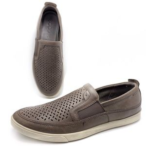 Ecco Collin 45 Perforated Slip On Shoes Loafers